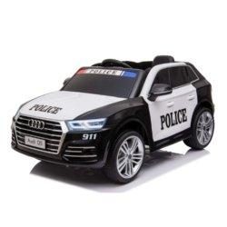 Электромобиль AUDI Q5Police (полицейский, колеса резина, сиденье кожа, пульт, музыка)